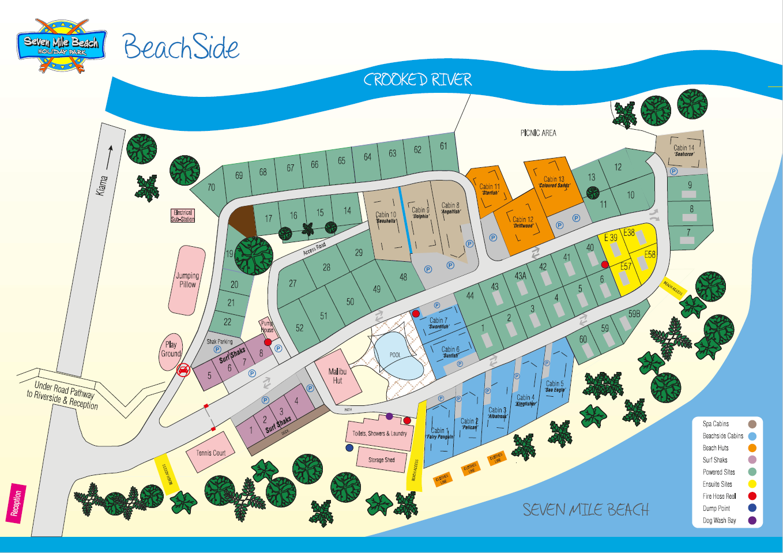 SMB Park Map - Beach Side
