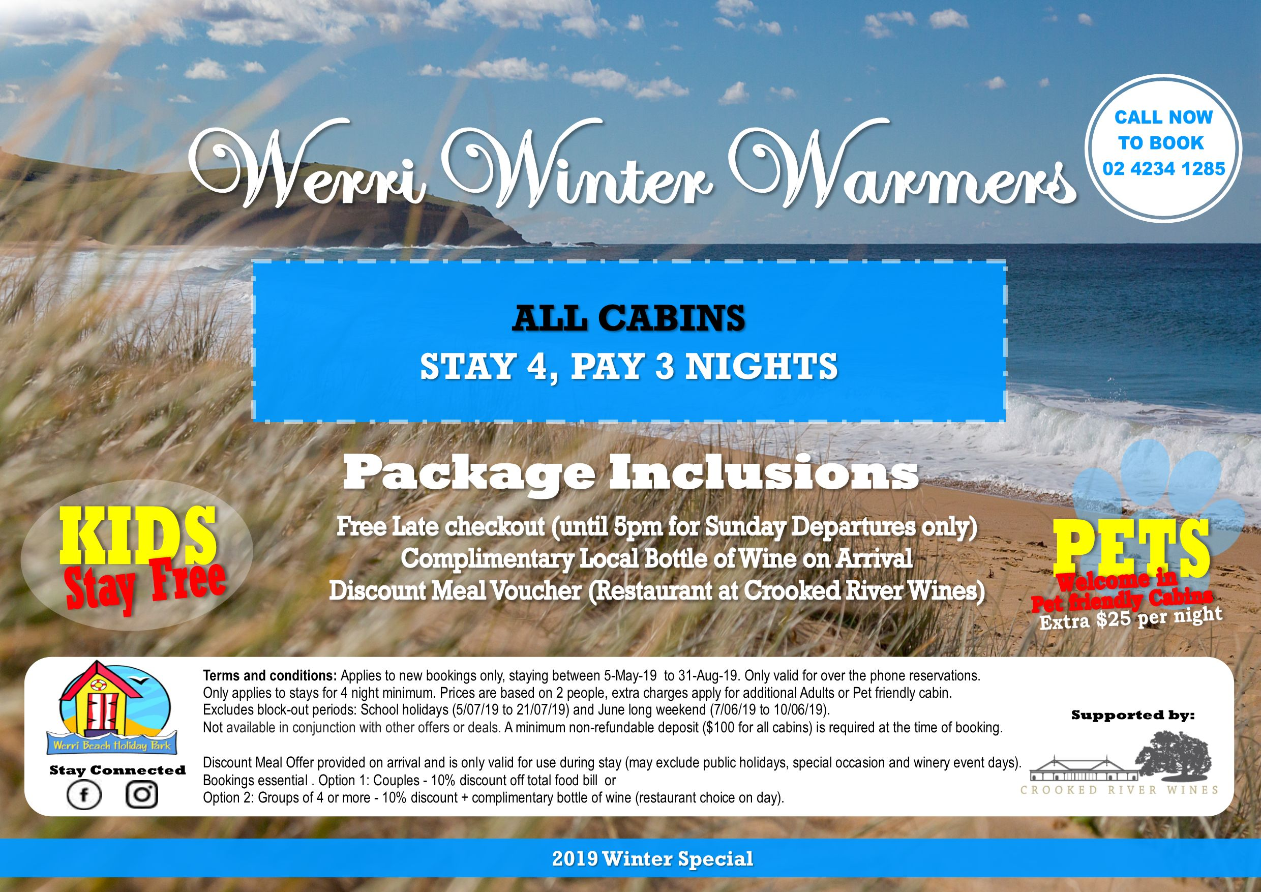 2019 CABINS - Werri Winter Warmer supported by Crooked River Wines